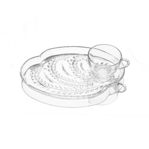 Federal Glass Vintage Hospitality Snack Set/フェデラルガラス社 ヴィンテージ スナックセット カップ プレート 1