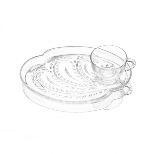 Federal Glass Vintage Hospitality Snack Set/フェデラルガラス社 ヴィンテージ スナックセット カップ プレート 3