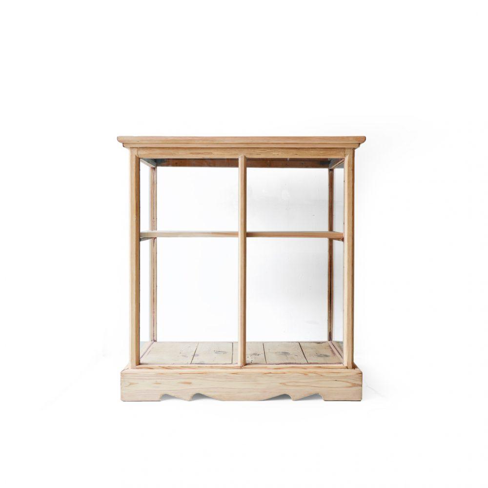 ヴィンテージ ガラス ショーケース キャビネット ディスプレイ 収納 什器/Vintage Glass Showcase Cabinet
