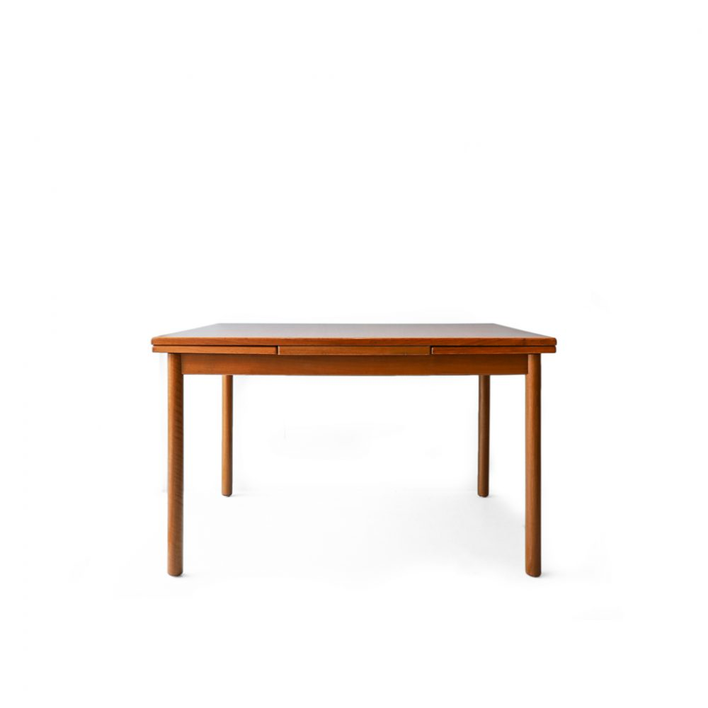 Danish Vintage Draw Leaf Extension Dining Table/デンマーク ヴィンテージ エクステンション ダイニングテーブル チーク材 ドローリーフ 北欧家具