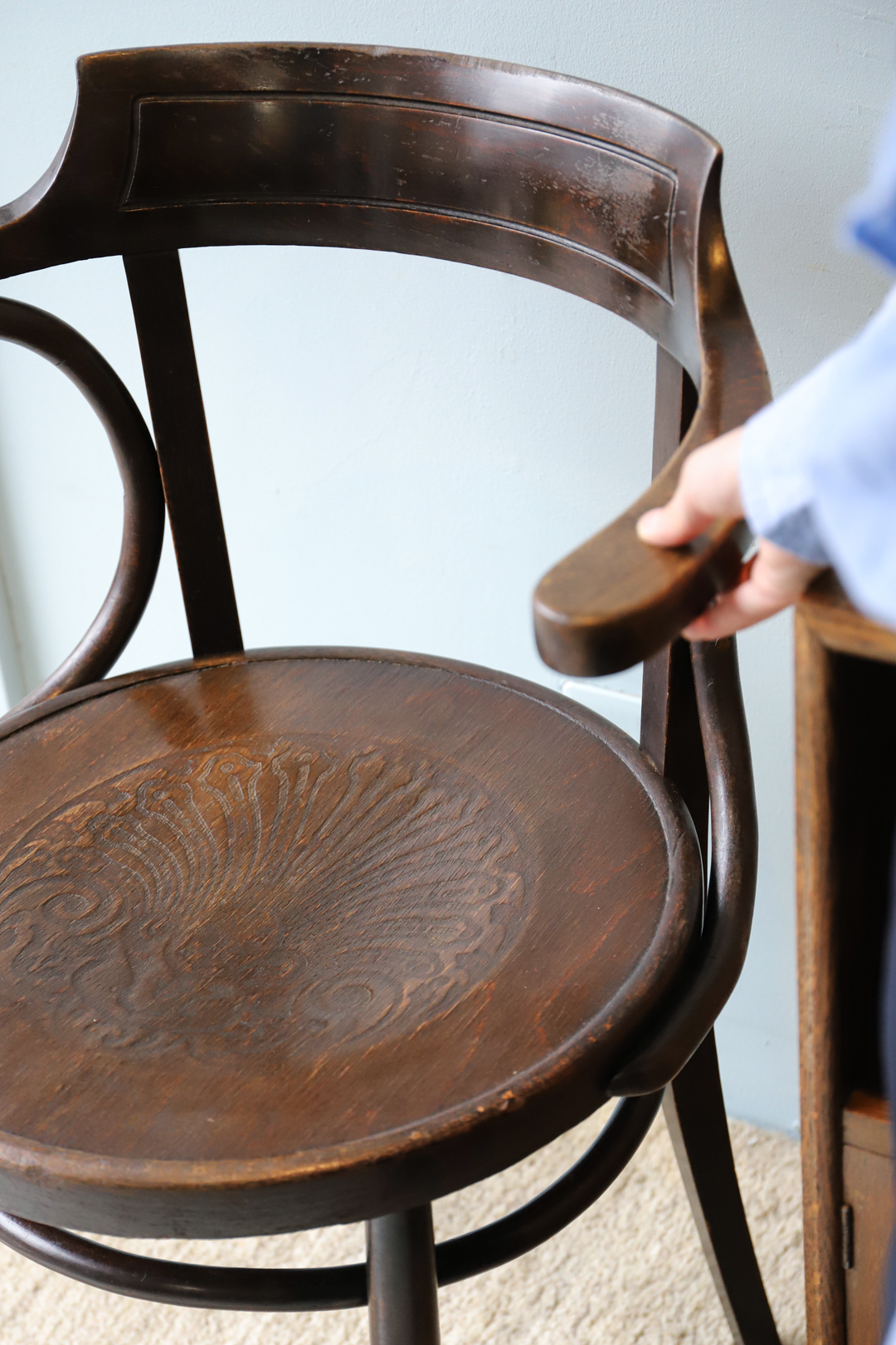 Euro Antique Bentwood Arm Chair/アンティーク ベントウッド アームチェア 曲木 椅子