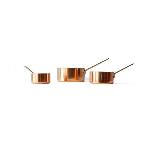 Les Cuivres De Faucogney Copper Pan Set Made In France/フランス製 銅製 片手鍋 セット フライパン キッチン雑貨 レトロ