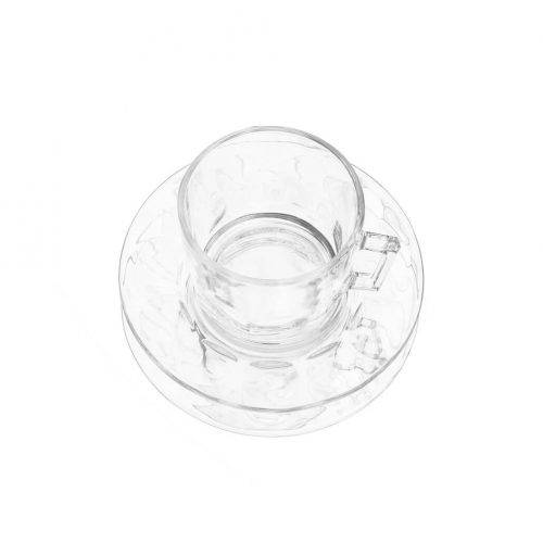 arcoroc Cup and Saucer Glass Ware Made In France/アルコロック カップ&ソーサー ガラス フランス製 食器 レトロ 1
