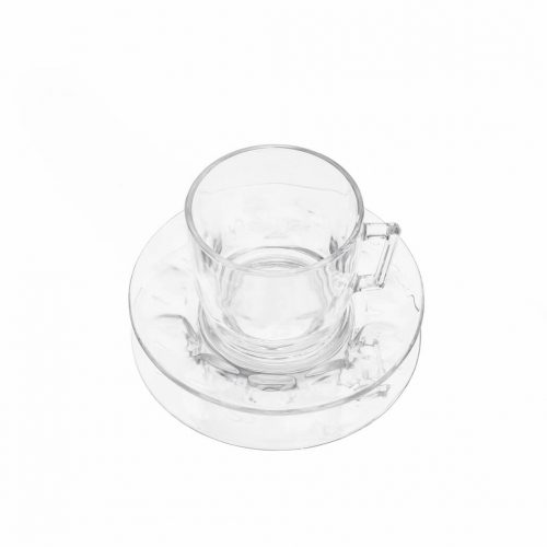 arcoroc Cup and Saucer Glass Ware Made In France/アルコロック カップ&ソーサー ガラス フランス製 食器 レトロ 2