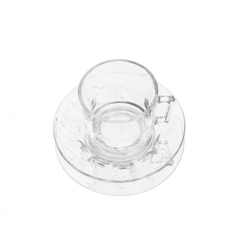 arcoroc Cup and Saucer Glass Ware Made In France/アルコロック カップ&ソーサー ガラス フランス製 食器 レトロ 3