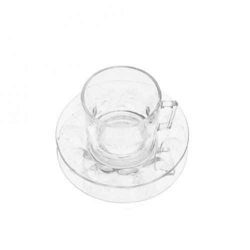 arcoroc Cup and Saucer Glass Ware Made In France/アルコロック カップ&ソーサー ガラス フランス製 食器 レトロ 4