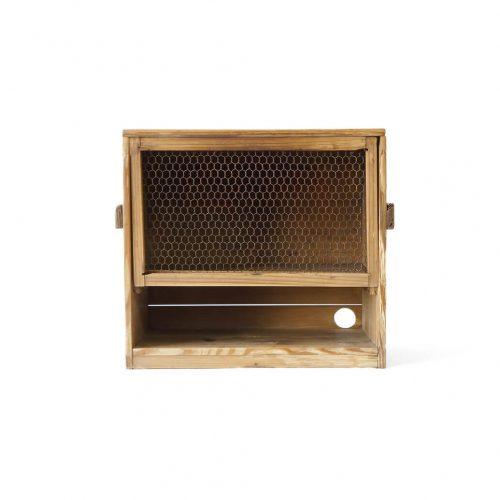 japan Antique wooden heater Box /アンティーク 柵木箱 ブックエンド 行火箱 小物入れ 本立て 古道具