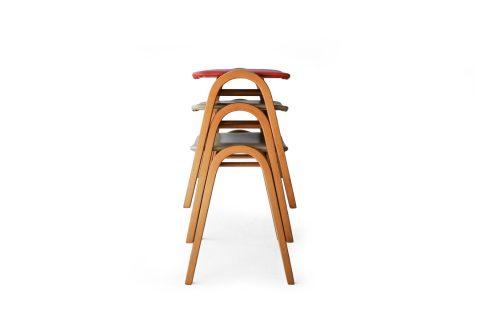 Akita Mokko Stacking Stool No.202 designed by Kenmochi Isamu/秋田木工 スタッキングスツール 剣持勇デザイン ジャパニーズモダン