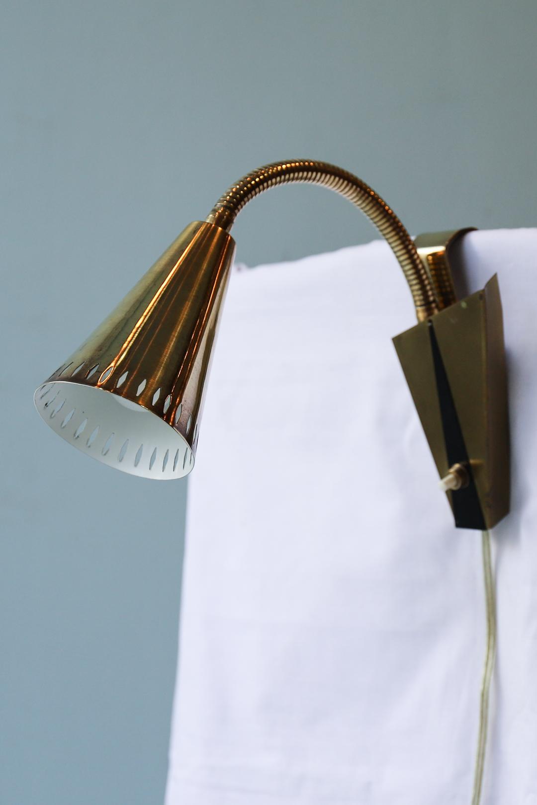 Swedish Vintage Asea Wall Lamp/スウェーデン ヴィンテージ アセア ウォールランプ 真鍮 照明 ミッドセンチュリー 北欧インテリア 1