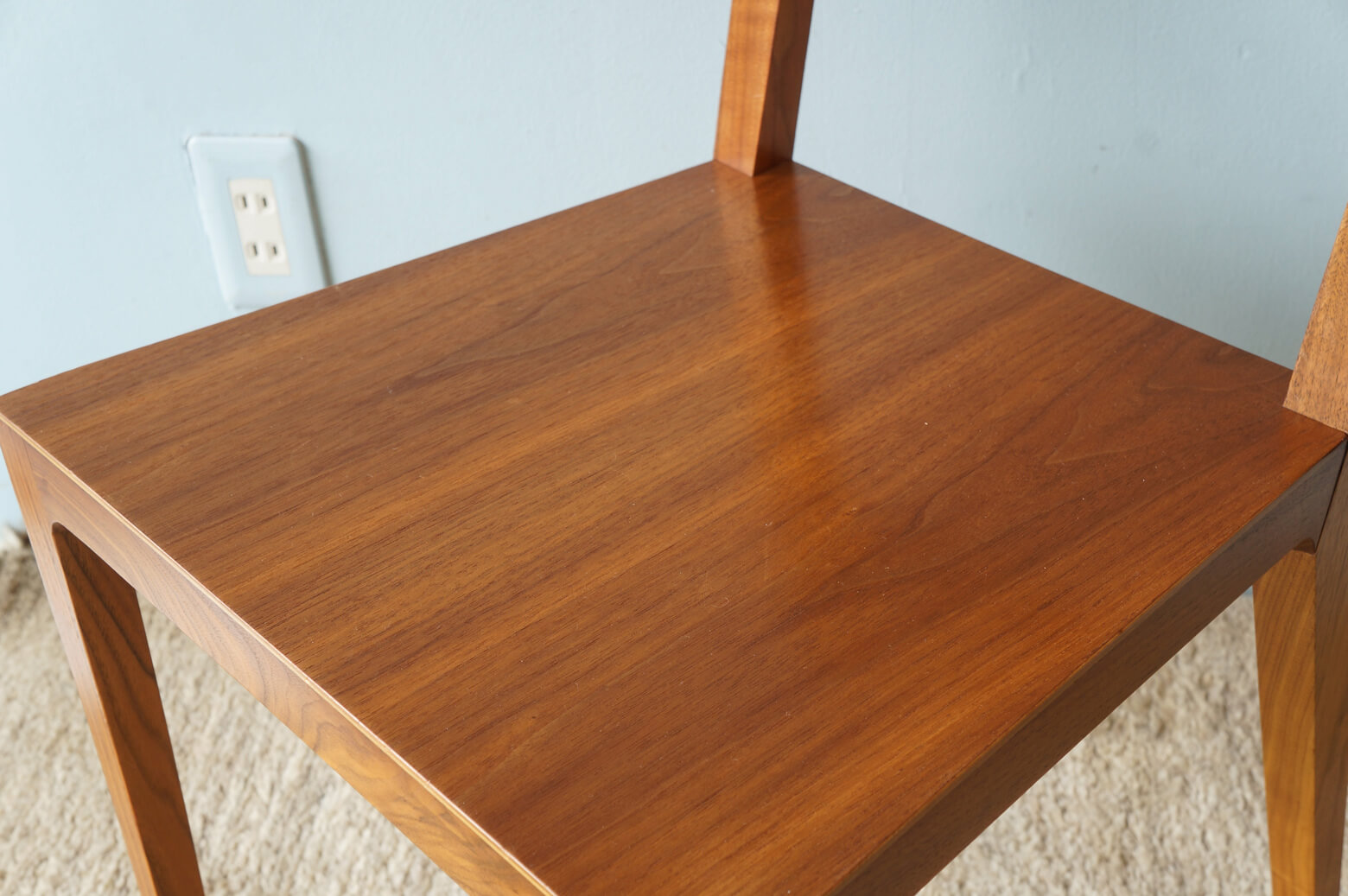 "TIME & STYLE Dining Chair ""Carlos""/タイム&スタイル ダイニングチェア カルロス ウォールナット 1"