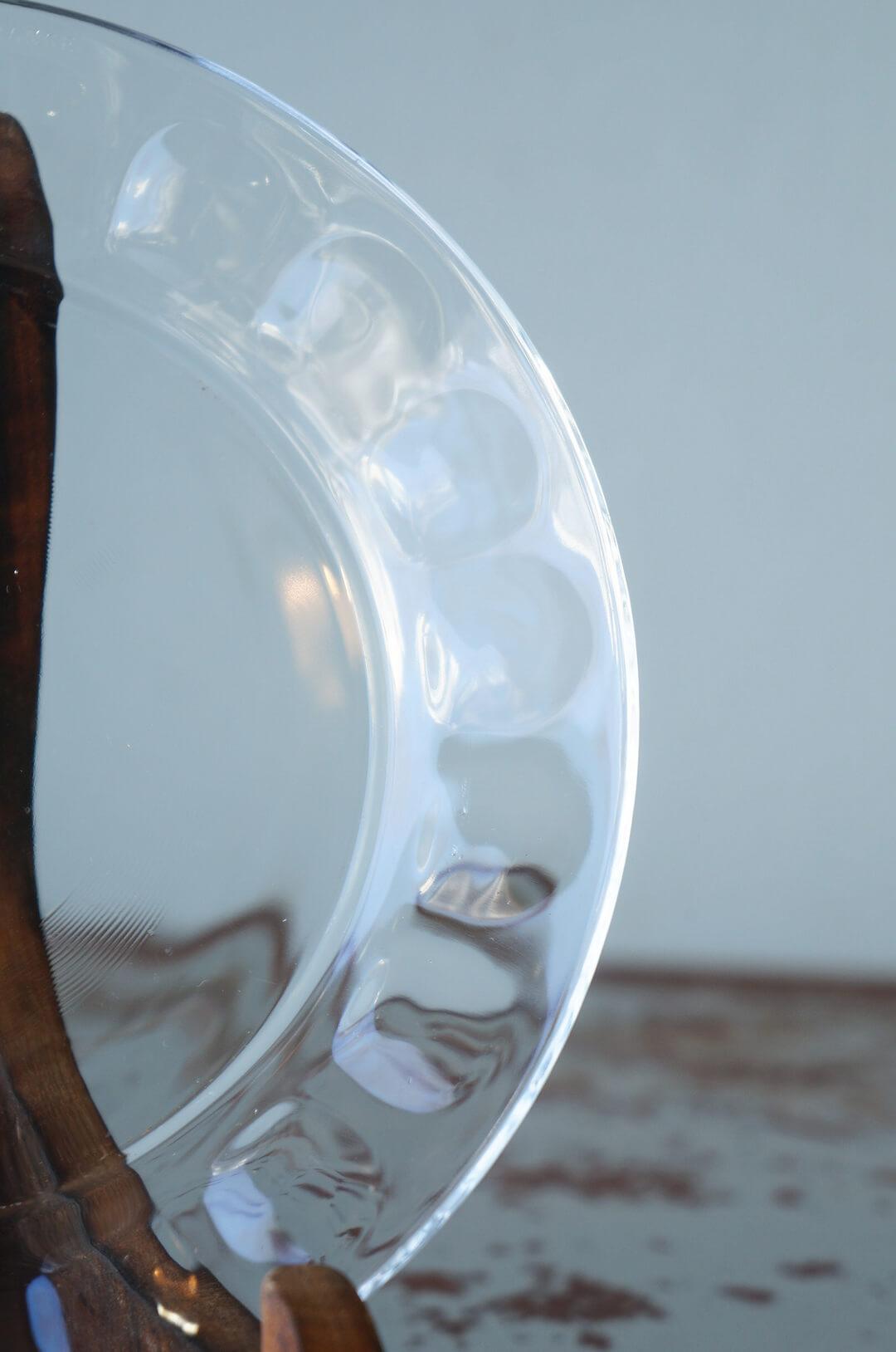 arcoroc Plate Glass Ware Made In France/アルコロック プレート ガラス フランス製 食器 レトロ スモールサイズ 2