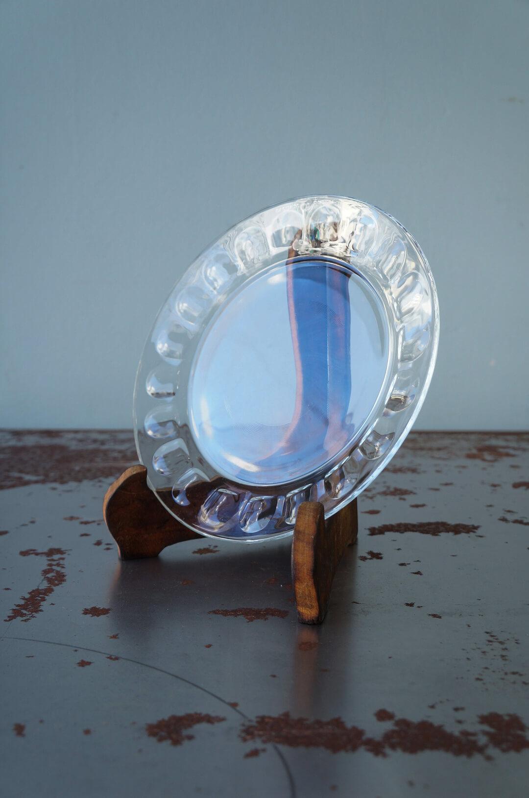 arcoroc Plate Glass Ware Made In France/アルコロック プレート ガラス フランス製 食器 レトロ スモールサイズ 3