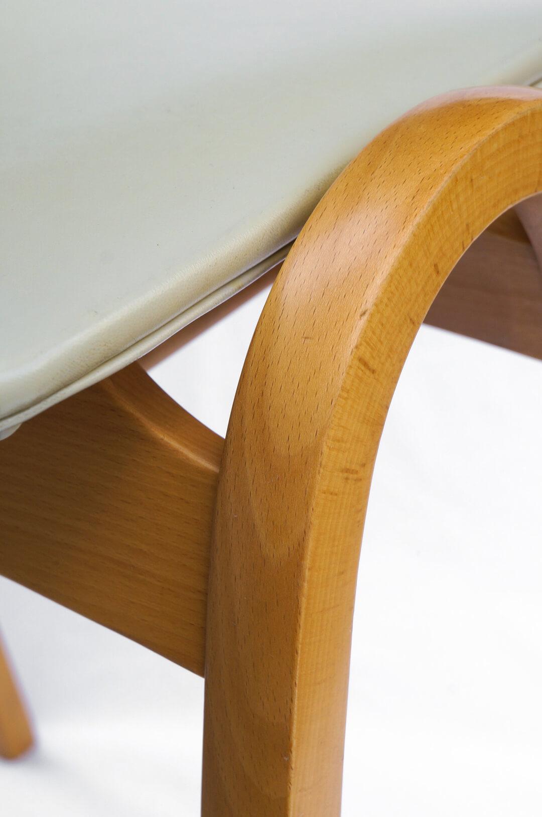 Akita Mokko Stacking Stool No.202 designed by Kenmochi Isamu/秋田木工 スタッキングスツール 剣持勇デザイン ジャパニーズモダン グレー 2