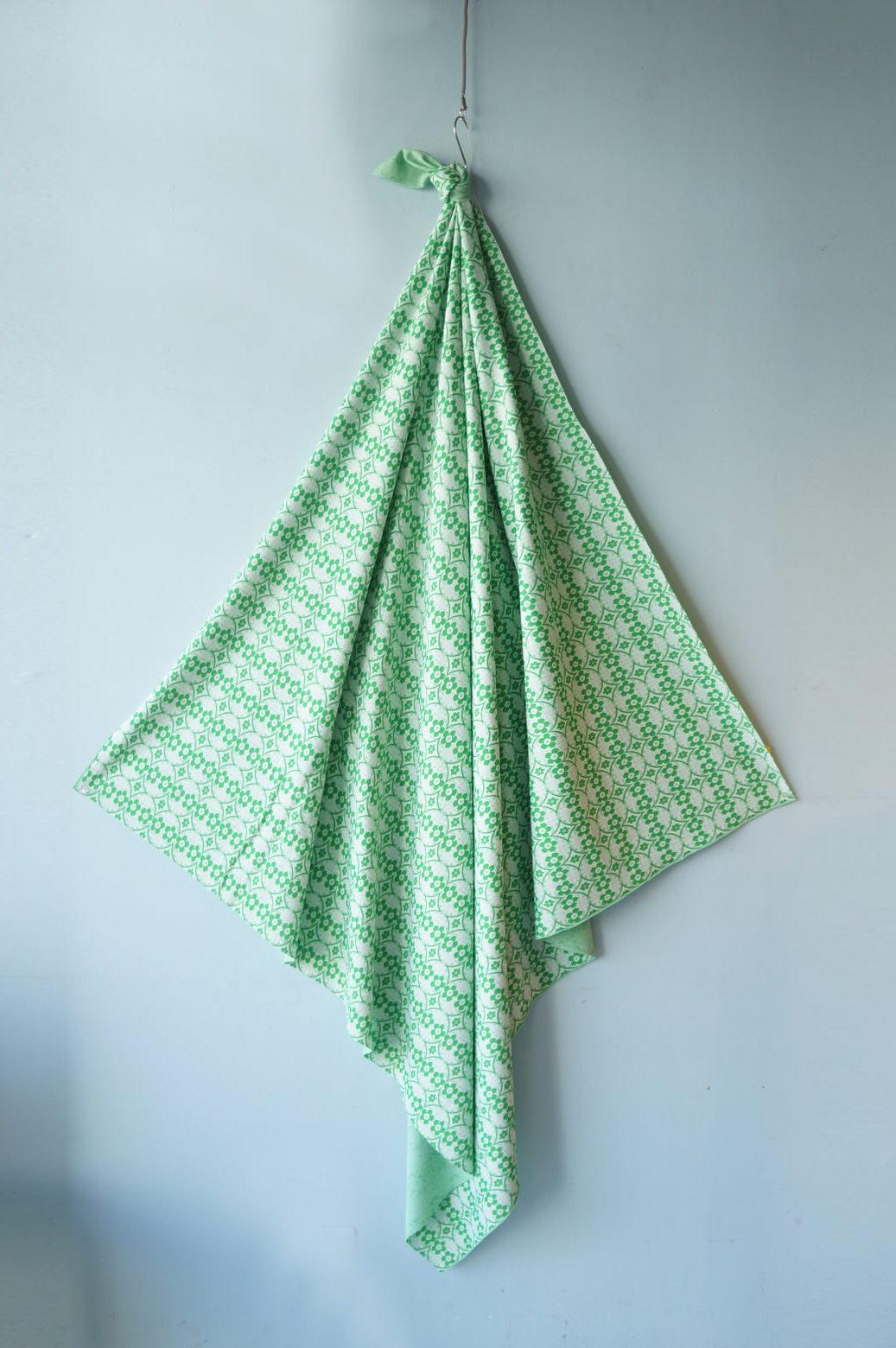 US Vintage Flower Print Jersey Fabric/アメリカ ヴィンテージ フラワープリント ファブリック ジャージー素材 レトロ 生地