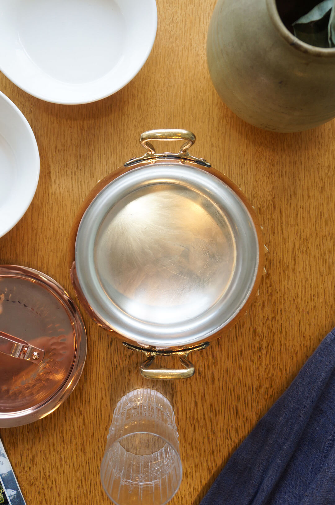 Copper Pot with two handles Kitchen Tool/銅製 両手鍋 キッチン雑貨 料理道具 レトロ