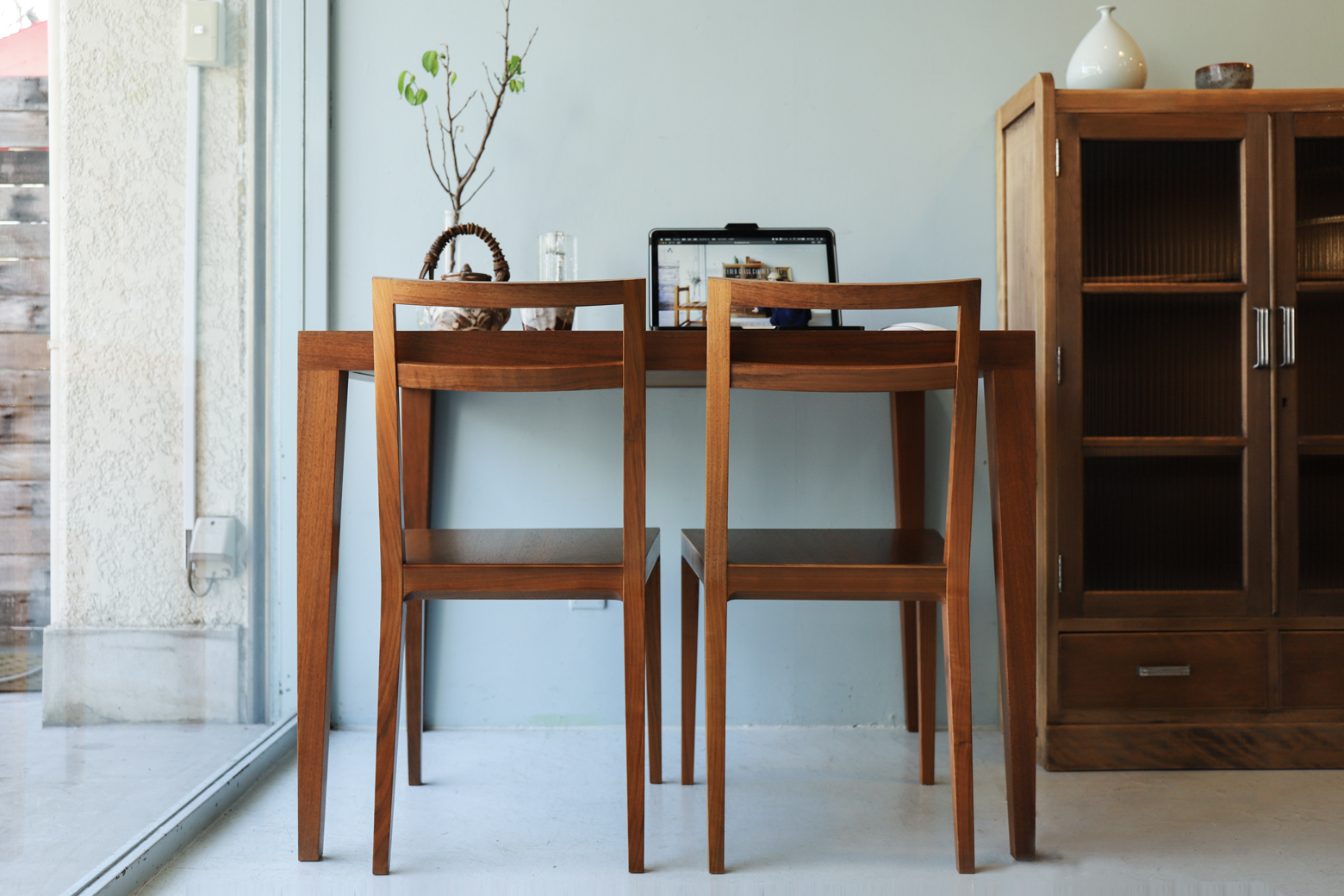 "TIME & STYLE Dining Chair ""Carlos""/タイム&スタイル ダイニングチェア カルロス ウォールナット"