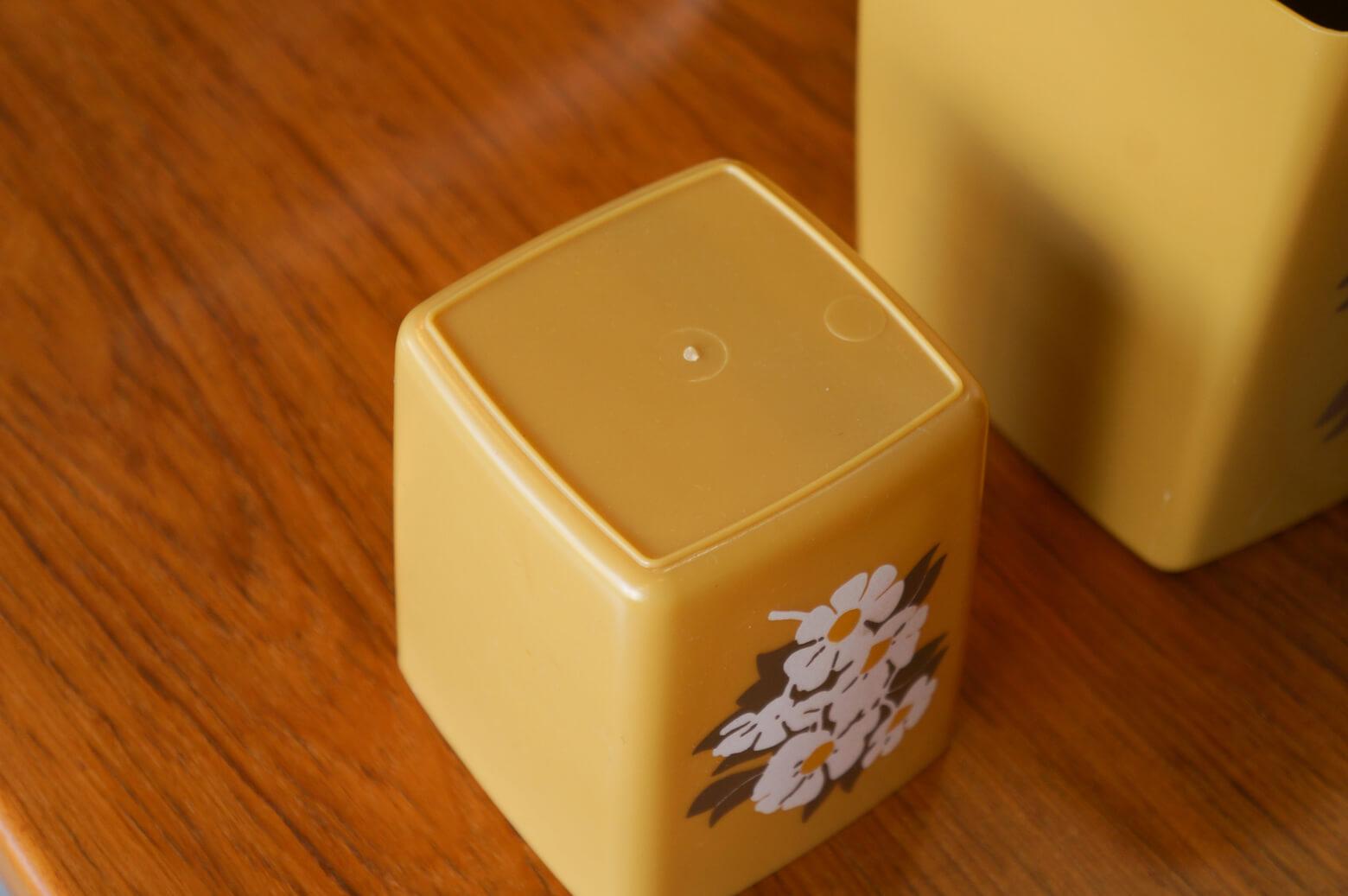 US Vintage Plastic Canister Set/アメリカ ヴィンテージ プラスチック キャニスター セット 入れ子 レトロ キッチン雑貨