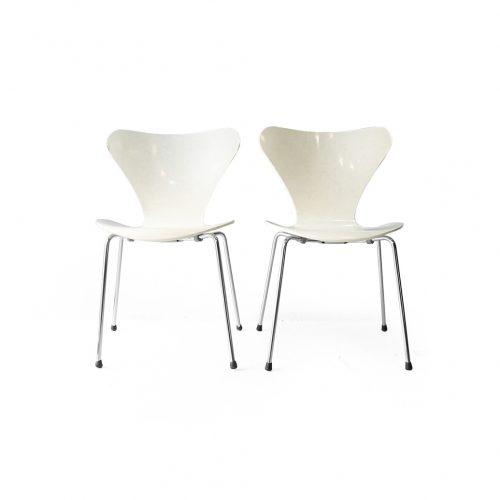Fritz Hansen Series 7 Chair Arne Jacobsen/フリッツハンセン セブンチェア ホワイト アルネ・ヤコブセン 北欧ヴィンテージ 椅子