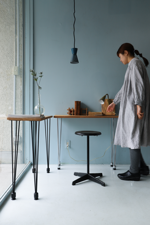 Reclaimed Wood Remake Side Table/リメイク サイドテーブル 古材 デスク アイアン ナチュラル シャビー