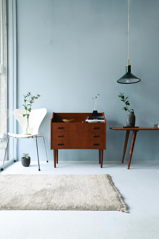 Danish Vintage Teakwood Chest 3Drawers/デンマーク ヴィンテージ チェスト 棚 3段 チーク材 収納 北欧家具