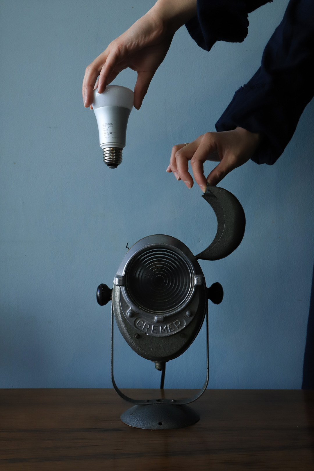 France Vintage A.E CREMER Studio Lamp/フランスヴィンテージ クレメール スタジオランプ 照明 撮影 インテリア