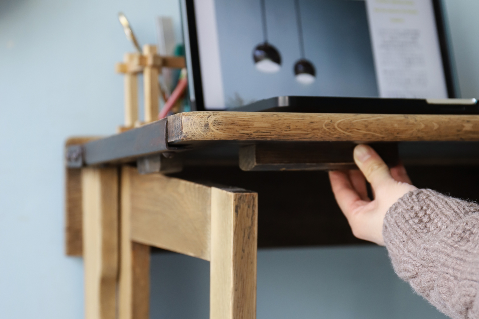 UK Vintage Folding School Desk/イギリス ヴィンテージ 折りたたみ スクールデスク 学校机 テーブル