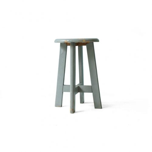 Vintage Round Atelier Stool Painted Gray/ヴィンテージ ラウンドアトリエスツール 丸椅子 グレーペイント シャビーシック 3