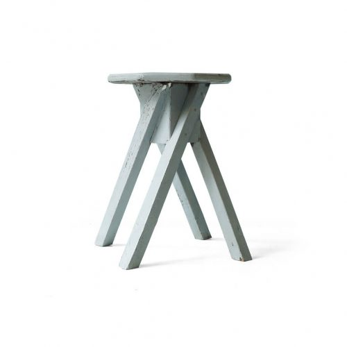 Vintage Octagon Atelier Stool Painted Gray/ヴィンテージ 八角形アトリエスツール 椅子 グレーペイント シャビーシック