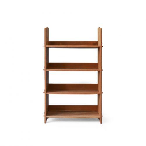 Japanese Vintage Solid wood Bookcase/ジャパンヴィンテージ 本棚 シェルフ オープンラック 欅材 楔式 昭和レトロ ナチュラル