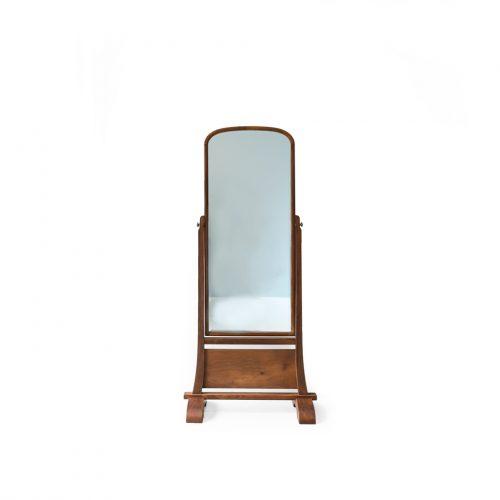 Japanese Modern Vintage Wooden Stand Mirror/ジャパンヴィンテージ 姿見 スタンドミラー 鏡 昭和レトロモダン インテリア