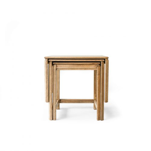 UK Antique Oakwood Nest Table/イギリス アンティーク ネストテーブル オーク材 英国 クラシカル ナチュラル