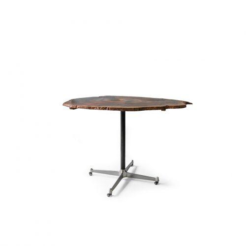Vintage Live Edge Iron Reg Table/ヴィンテージ ライブエッジ 一枚板 アイアンレッグ テーブル デスク 作業台 机