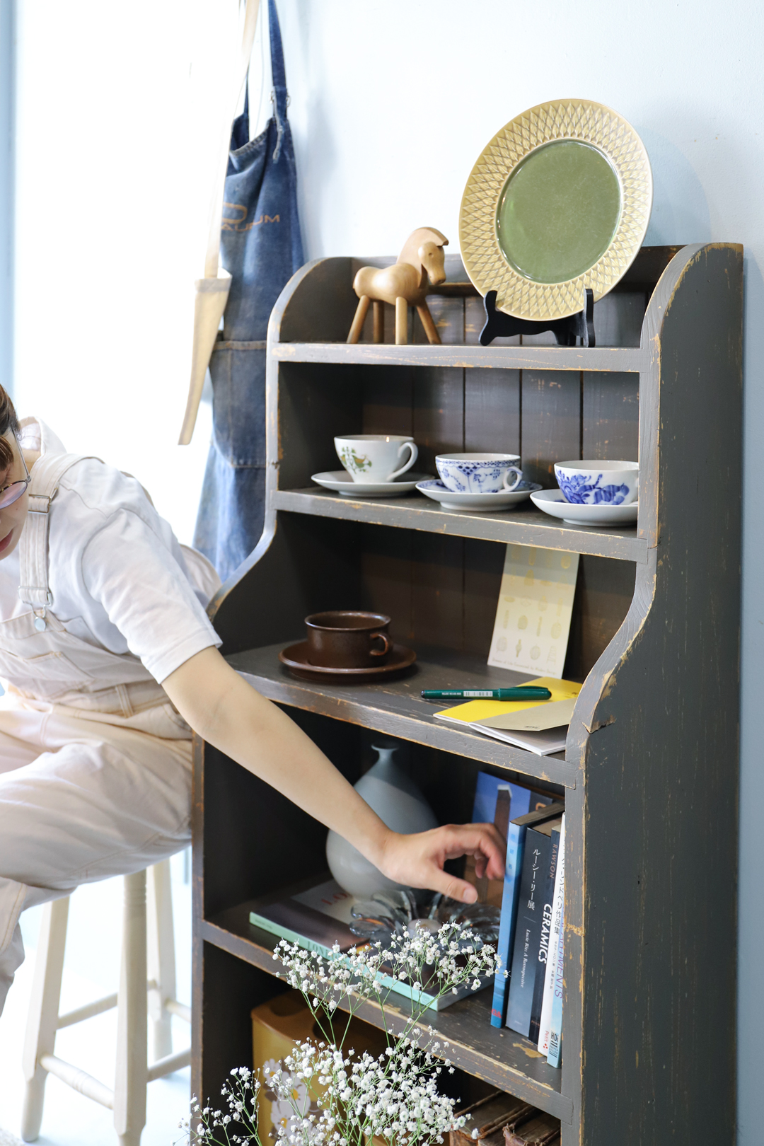 French Shabby Chic Style Vintage Book Shelf/ヴィンテージ ブックシェルフ フレンチカントリー シャビーシック 本棚