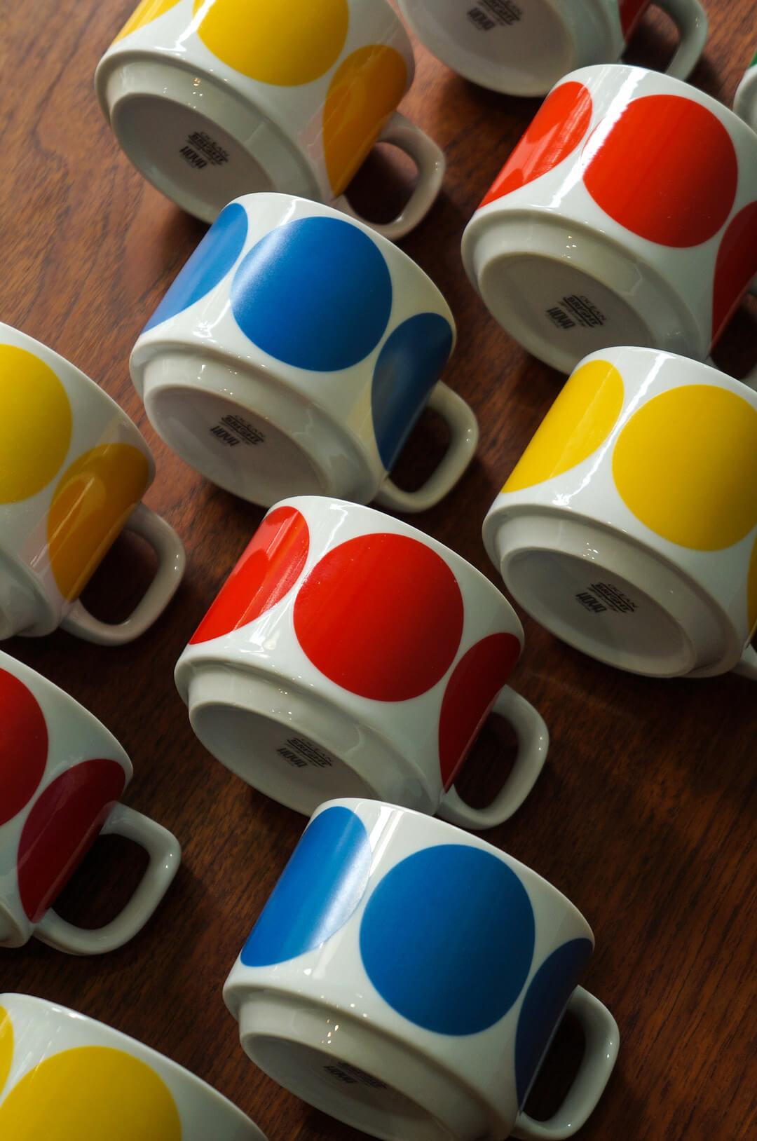 Japanese Vintage HOYA Stacking Mug Cup/ヴィンテージ ホーヤ スタッキングマグカップ 昭和レトロ 食器 1970年代
