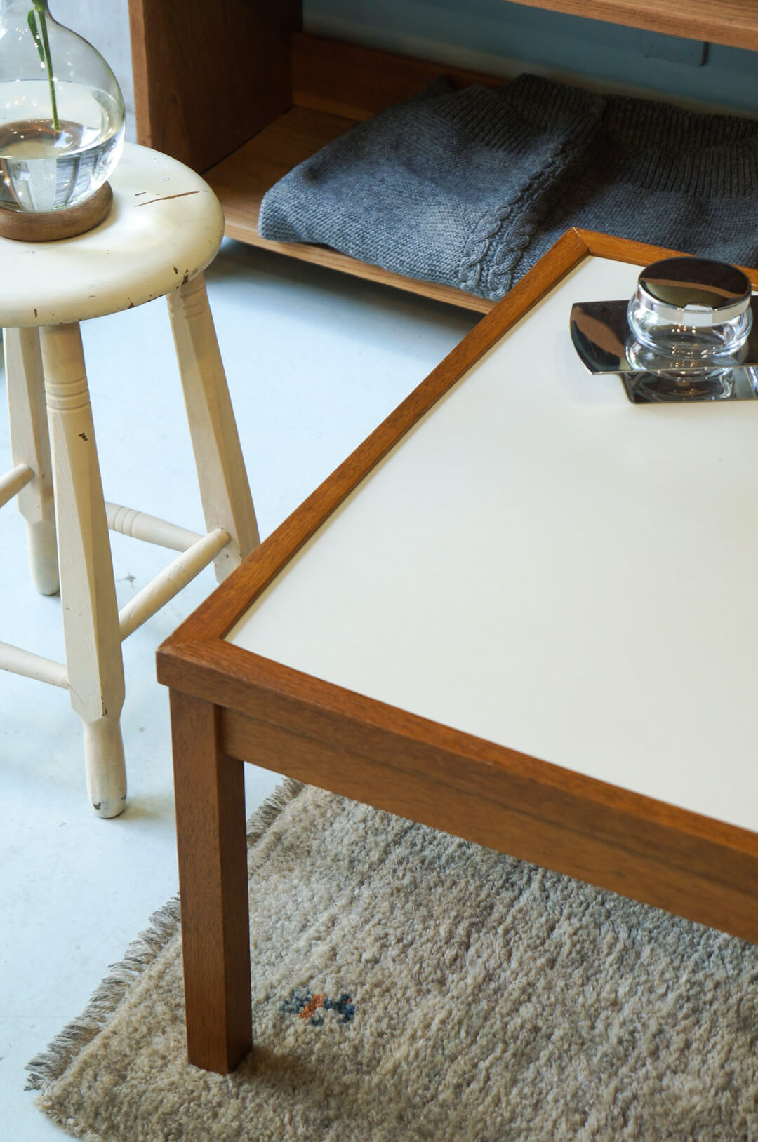 Japanese Vintage Modern Square Low Table/ジャパンヴィンテージ スクエアローテーブル 座卓 レトロモダン メラミントップ