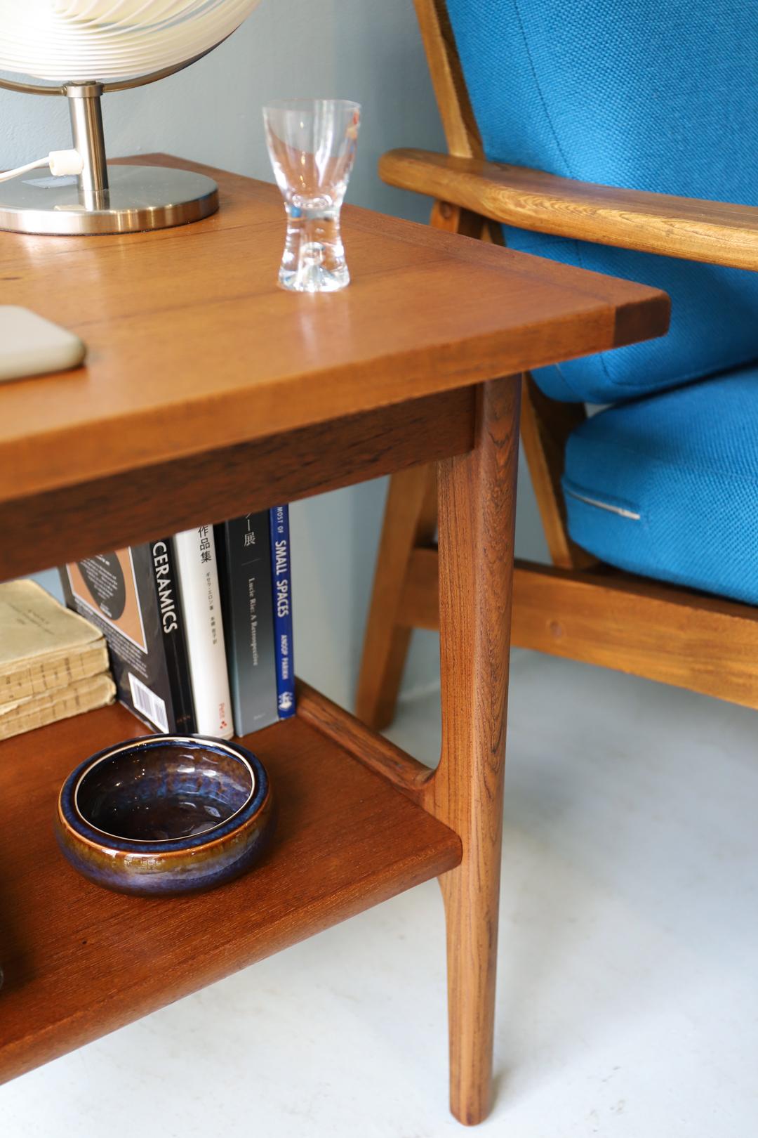 Danish Vintage Square Side Table Teakwood/デンマーク ヴィンテージ サイドテーブル チーク材 北欧家具 ミッドセンチュリー
