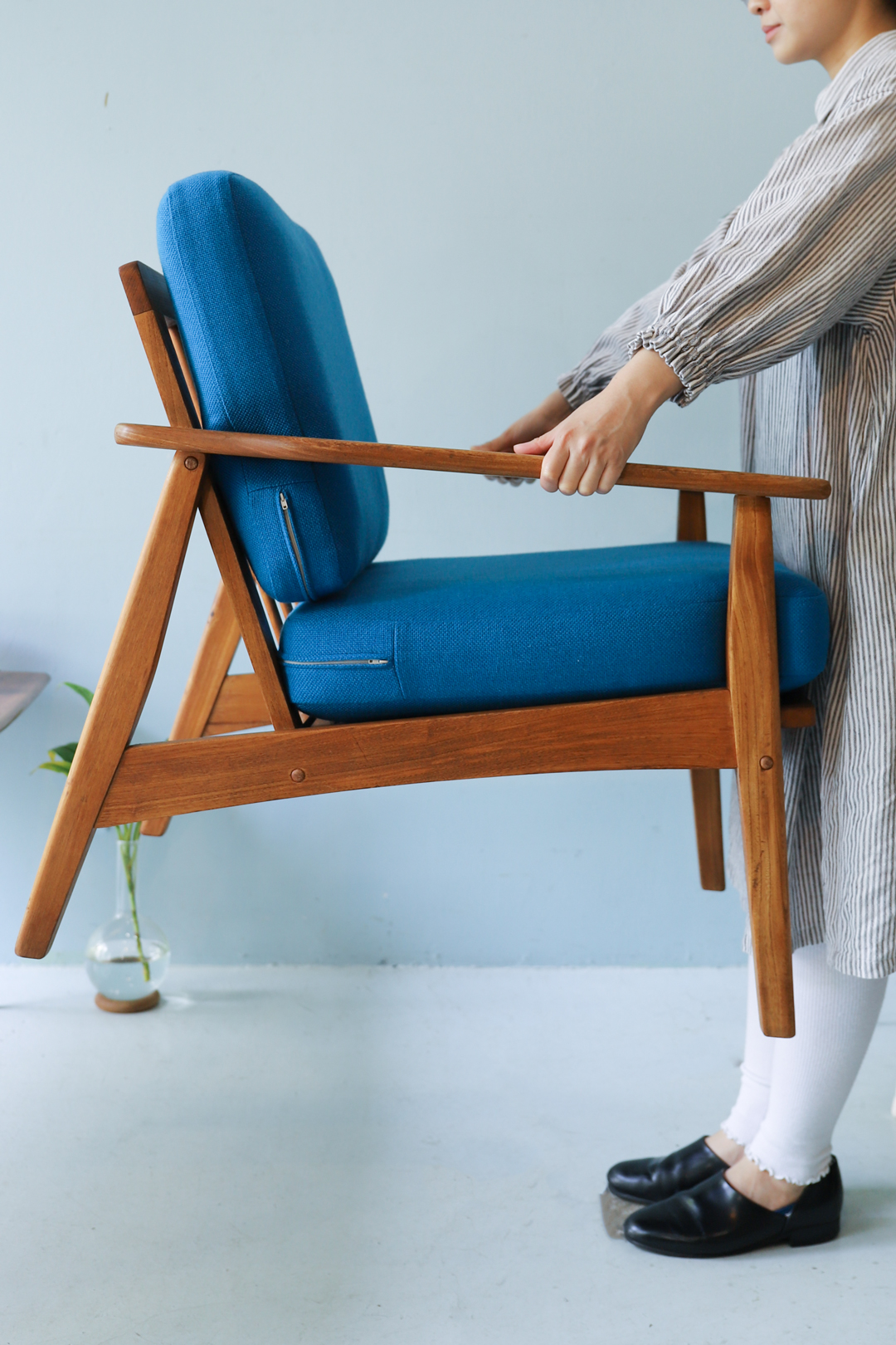 Vintage Easy Chair 1P Sofa Beech Wood/ヴィンテージ イージーチェア ソファ ビーチ材 椅子 ミッドセンチュリーモダン