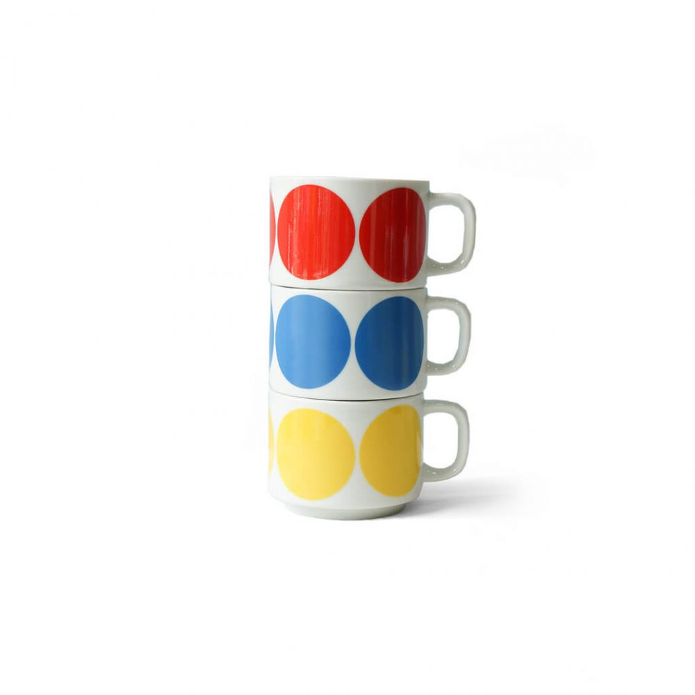 Japanese Vintage HOYA Stacking Mug Cup/ヴィンテージ ホーヤ スタッキングマグカップ 昭和レトロ 食器 1970年代 3