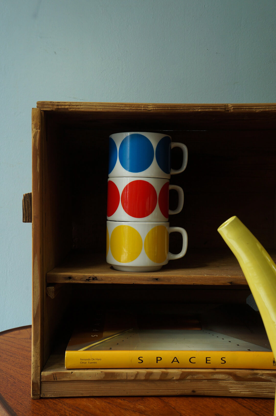 Japanese Vintage HOYA Stacking Mug Cup/ヴィンテージ ホーヤ スタッキングマグカップ 昭和レトロ 食器 1970年代 2