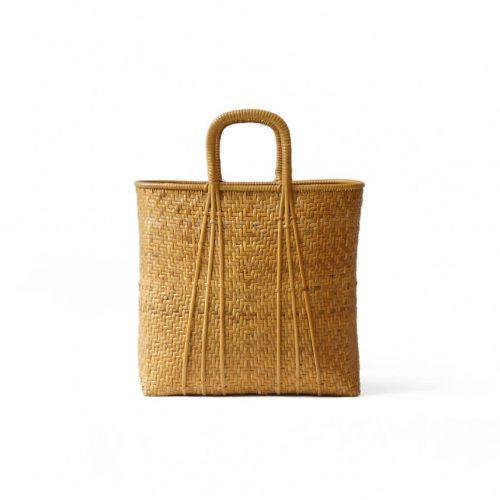 Japanese Vintage Banboo Shopping Basket/ヴィンテージ バンブー カゴバッグ バスケット 竹籠 かばん ファッション