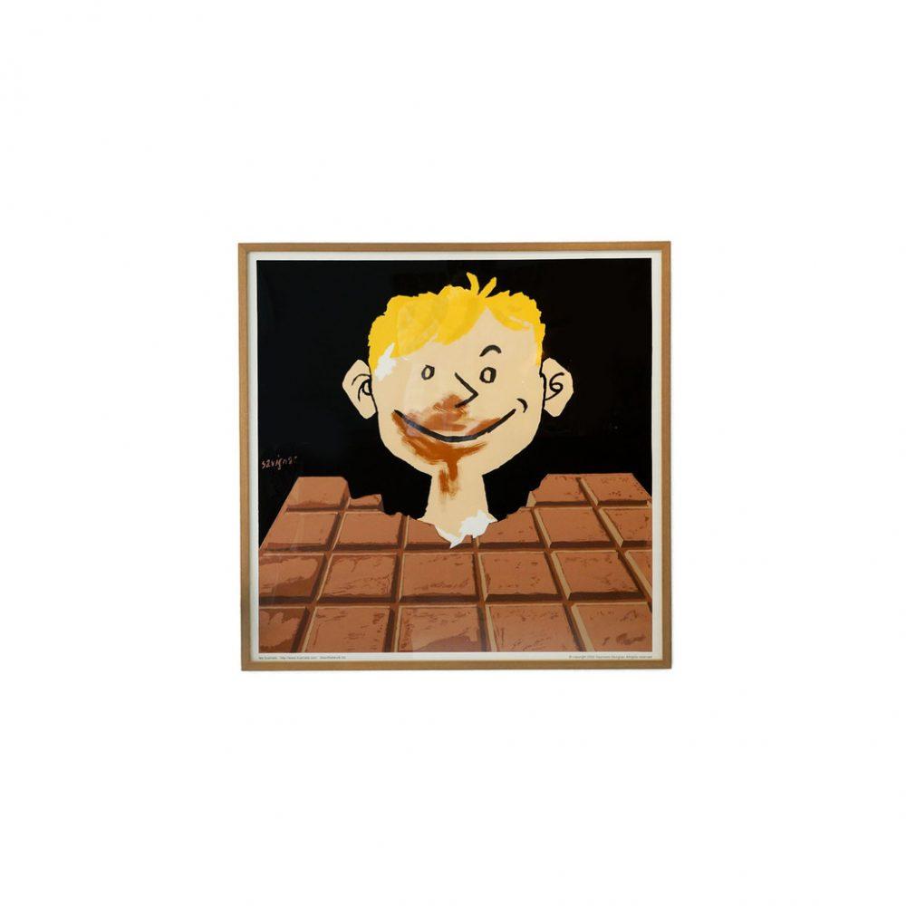 Raymond Savignac Chocolat Tobler Poster Flame/レイモン・サヴィニャック ショコラ・トブレー チョコレート ポスター 額 フレーム インテリア