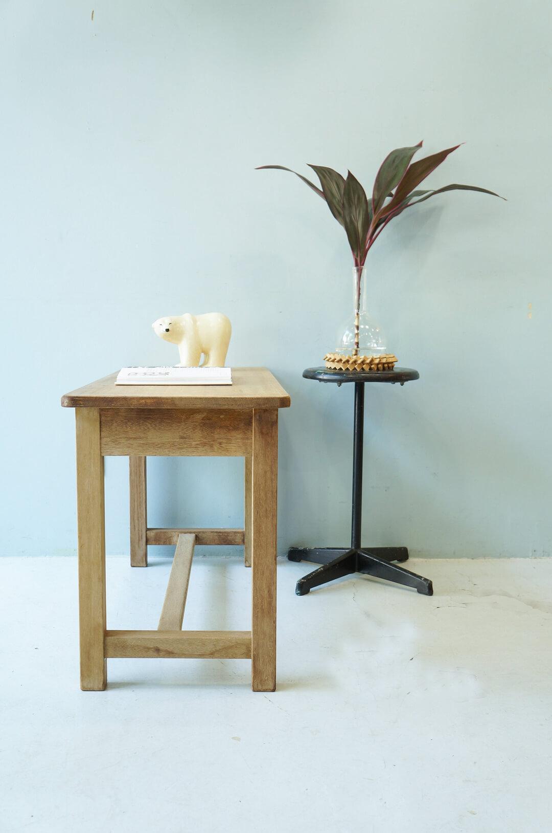 Japanese Vintage Long Work Table/ヴィンテージ 長机 テーブル デスク レトロ シャビー ナチュラル 1