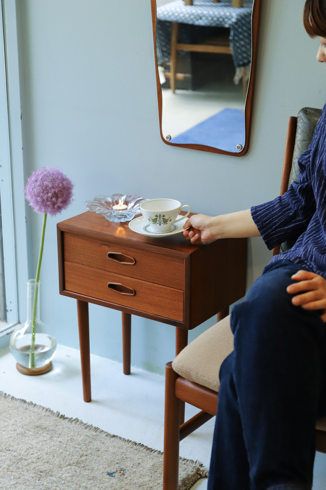 Danish Vintage Bedside Chest/デンマーク ヴィンテージ ベッドサイドチェスト サイドテーブル チーク材 北欧家具
