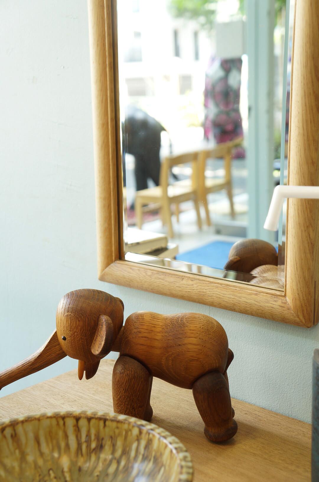Oak Wood Wall Mirror/オーク材 ウォールミラー 壁掛け鏡 姿見 ナチュラル インテリア