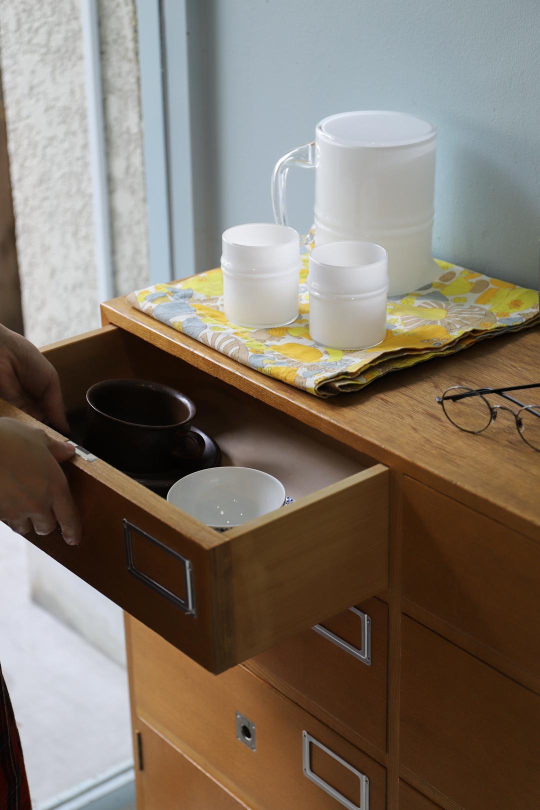 Multi Drawer Storage Cabinet/マルチキャビネット 引き出し 収納 チェスト オーク材 2