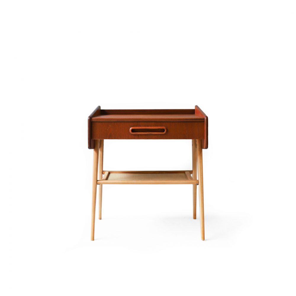 Swedish Vintage Side Table/スウェーデン ヴィンテージ サイドテーブル チェスト チーク材 ビーチ材 北欧家具