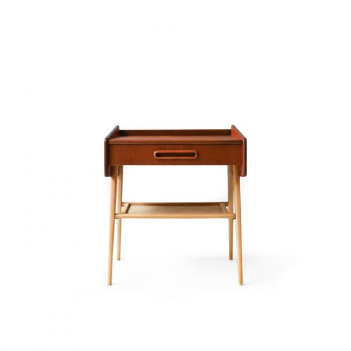 Swedish Vintage Side Table/スウェーデン ヴィンテージ サイドテーブル チェスト チーク材 ビーチ材 北欧家具