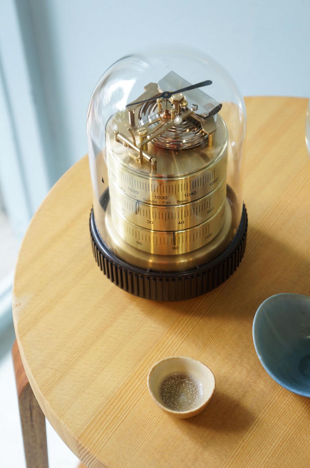 BARIGO Hygrothermograph&Barometer made in Germany/バリゴ 温湿気圧計 3025型 ドイツ製 ゴールド インテリア