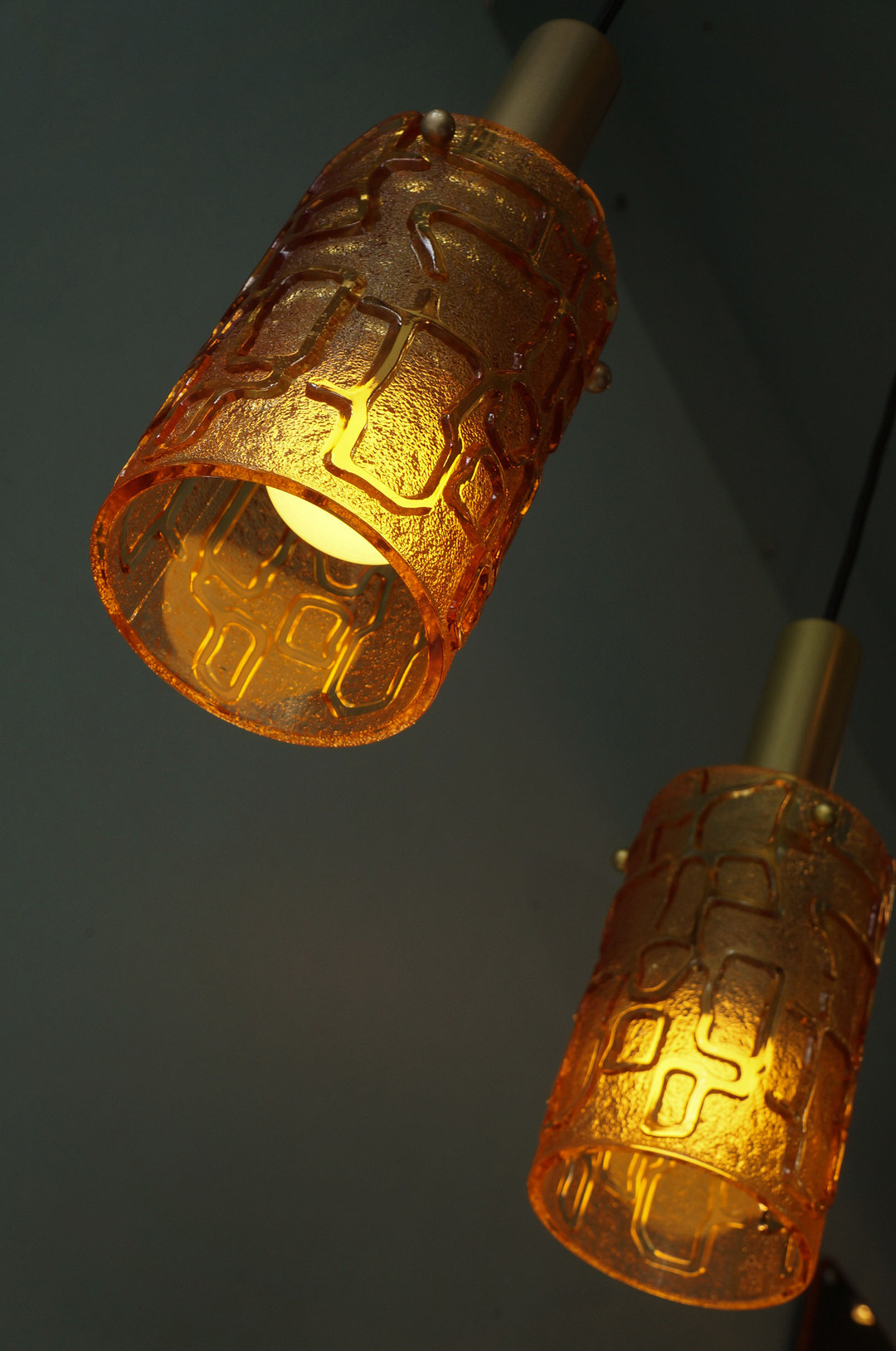 Scandinavian Vintage Style Amber Glass Pendant Light/アンバーガラス ペンダントライト 北欧モダン 照明 レトロ ヴィンテージスタイル