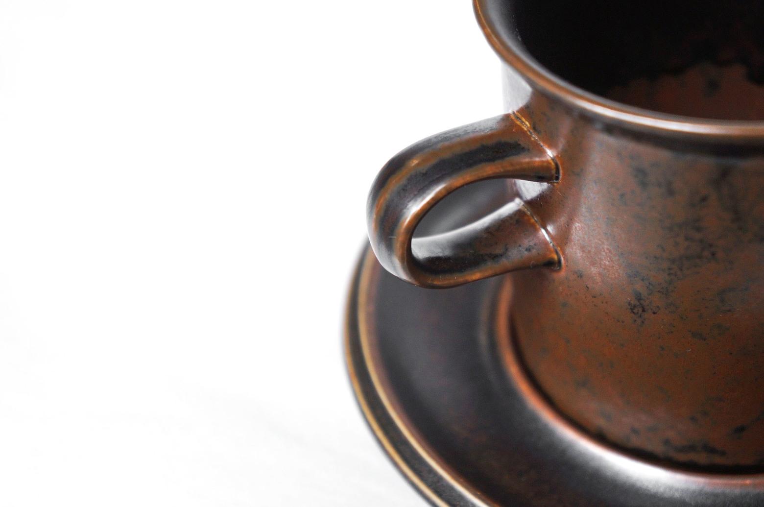 ARABIA Ruska Morning Cup and Saucer Ulla Procope/アラビア ルスカ モーニングカップ&ソーサー ウラ・プロコッペ フィンランド ヴィンテージ 北欧食器 1